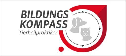 Tierheilpraktiker Logo mit Hund und Katze in der Mitte
